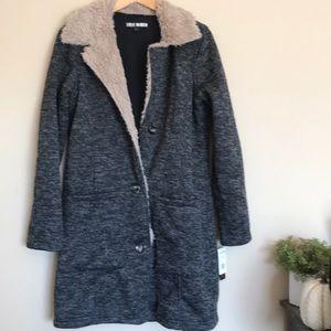 Steve Madden gray tan faux fur jacket coat
